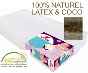 matelas 100 naturel laine coco latex coton bio enfant 60x120 candide. Black Bedroom Furniture Sets. Home Design Ideas